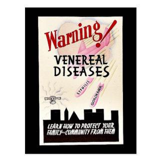 Warning Venereal Diseases Postcard
