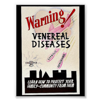 Warning Venereal Diseases Print