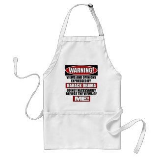 Warning! Views Express By Obama Adult Apron