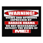 Warning! Views Express By Obama Announcements