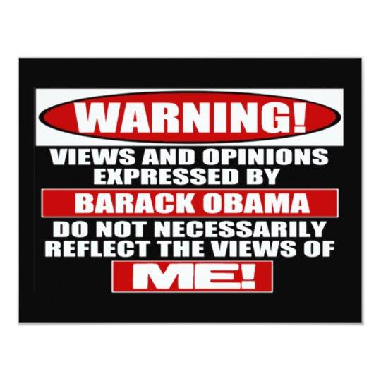 Warning! Views Express By Obama Card