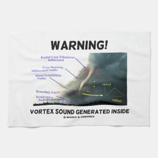 Warning! Vortex Sound Generated Inside (Tornado) Kitchen Towel
