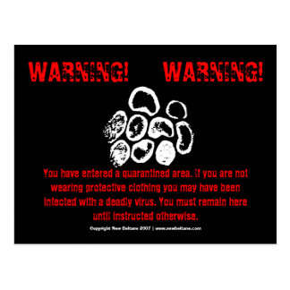 WARNING!, WARNING!, POSTCARD