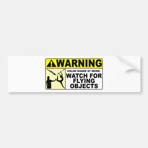 WARNING Watch For Flying Objects! Bumper Sticker