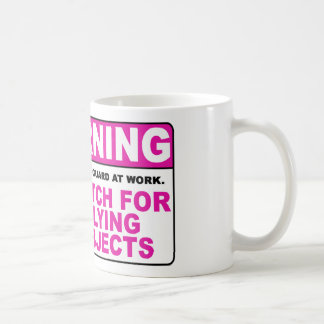 WARNING Watch For Flying Objects! Coffee Mug