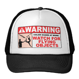WARNING Watch For Flying Objects! Mesh Hats