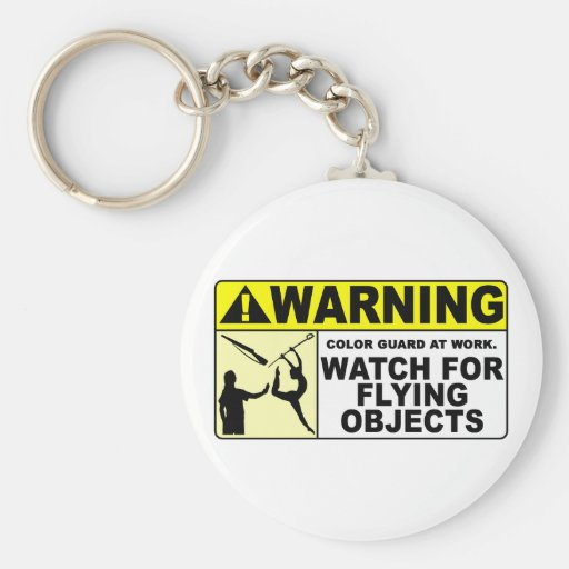 WARNING Watch For Flying Objects! Key Chain