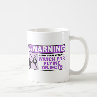 WARNING Watch For Flying Objects! Coffee Mugs