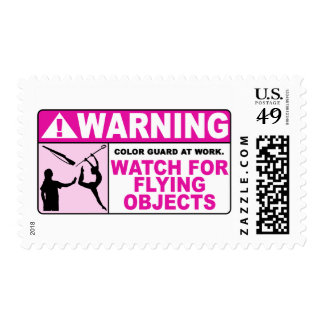 WARNING Watch For Flying Objects! Postage Stamps