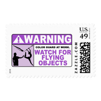 WARNING Watch For Flying Objects! Postage