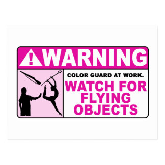 WARNING Watch For Flying Objects! Postcard