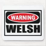 Warning WELSH Mousepad