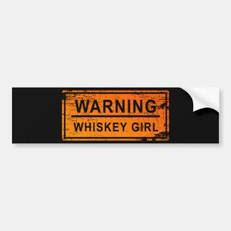 Warning - Whiskey Girl Bumper Sticker