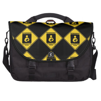 Warning! Working Mom Inside (Yellow Diamond Sign) Bag For Laptop