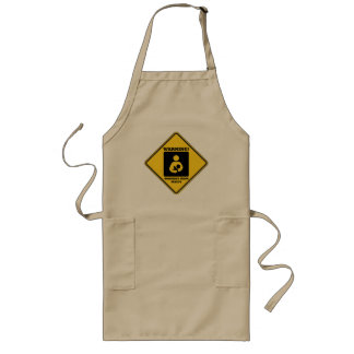 Warning! Working Mom Inside (Yellow Diamond Sign) Long Apron