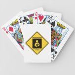 Warning! Working Mom Inside (Yellow Diamond Sign) Bicycle Playing Cards
