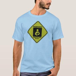Warning! Working Mom Inside (Yellow Diamond Sign) T-Shirt