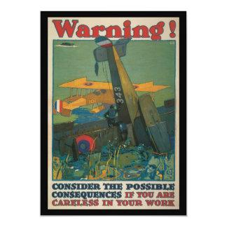 Warning World War II Card