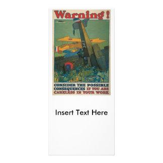 Warning World War II Rack Card