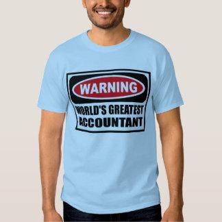 Warning WORLD'S GREATEST ACCOUNTANT Men's T-Shirt