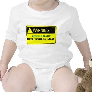 WARNING-ZOMBIE BABY KEEP FINGERS AWAY TSHIRTS