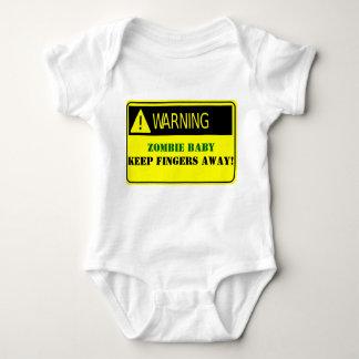 WARNING-ZOMBIE BABY KEEP FINGERS AWAY TEE SHIRT