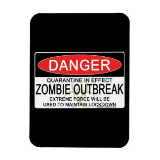 Warning - Zombie Outbreak Magnet