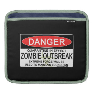Warning - Zombie Outbreak Sleeve For iPads