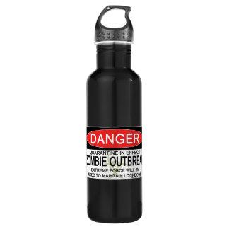 Warning - Zombie Outbreak Stainless Steel Water Bottle