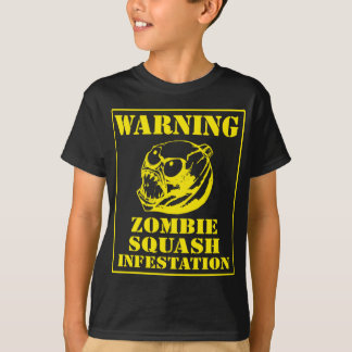 Warning Zombie Squash Infestation T-Shirt