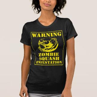Warning Zombie Squash Infestation Tees