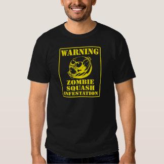 Warning Zombie Squash Infestation Tshirts