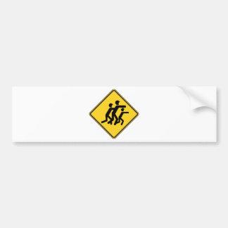 Warning Zombies Car Bumper Sticker