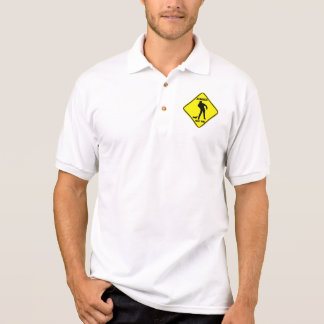 Warning: Zombies - Men's Polo T-Shirt