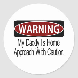 Warningdaddybk Classic Round Sticker
