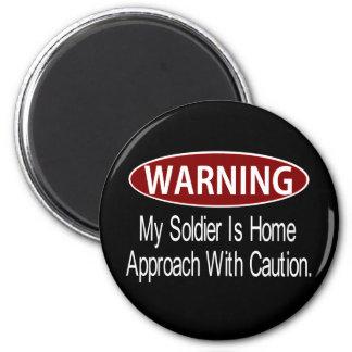 Warningsoldierwhite Magnet