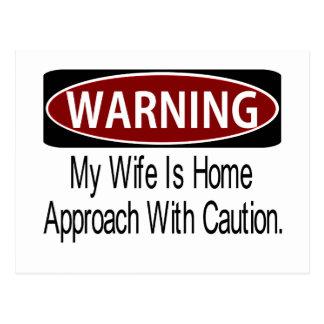 Warningwifebk Postcard