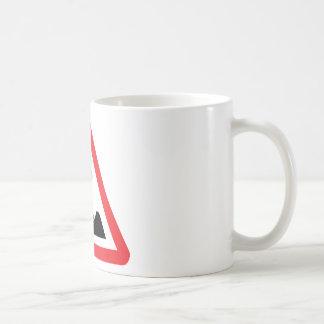 warnsign del edificio-sitio de la construcción de  taza de café