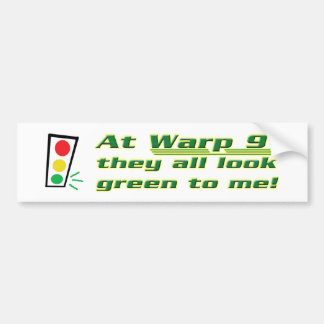 Warp 9 car bumper sticker