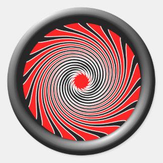 Warp Drive Design 2 Classic Round Sticker