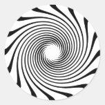 Warp Drive Design Classic Round Sticker
