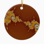 Warp Fractal Ceramic Ornament