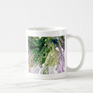 Warp green purple white space coffee mug