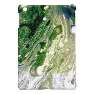 Warp green purple white space iPad mini cover
