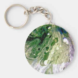 Warp green purple white space keychains