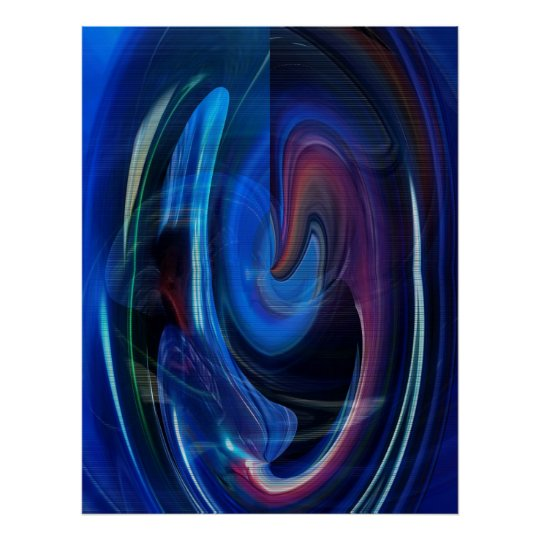 Warp Speed Abstract Poster