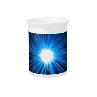 Warp speed blue. beverage pitcher