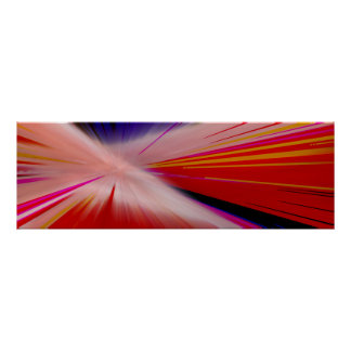 """Warp Speed"" Colorful Narrow Horizontal Poster"