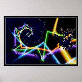 warp speed neon 1 poster