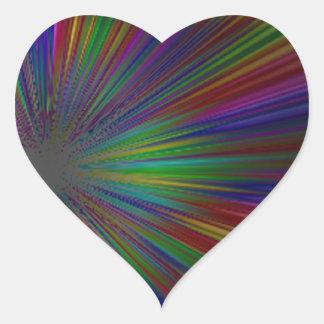 WARP SPEED HEART STICKERS
